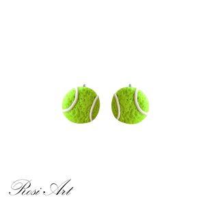 "Обеци ""Тенис топки"""
