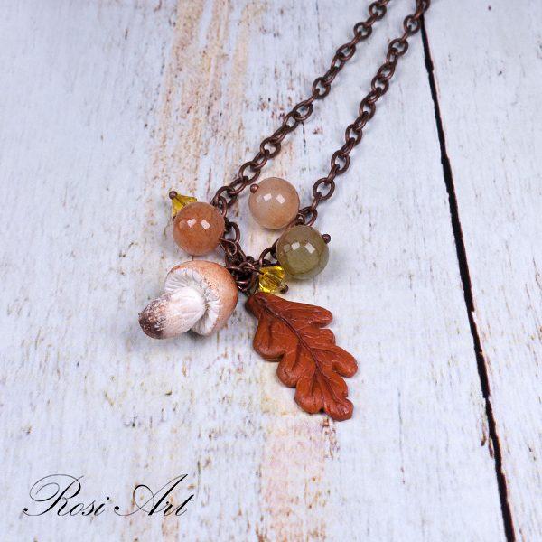 """Колие """"Есен и гъбка"""""""