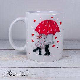 """Чаша """"Любов под дъжда"""""""
