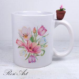 """Чаша """"Пролетни цветя"""""""