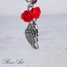 """Обеци """"Рози с ангелски крила"""""""
