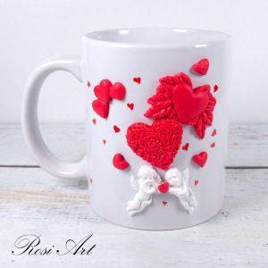 """Чаша """"Ангели и сърца"""""""