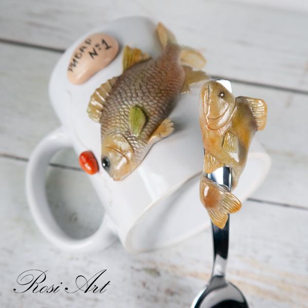 комплект чаша и лъжичка рибар номер 1
