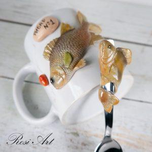 """Комплект чаша и лъжичка """"Рибар номер 1"""""""