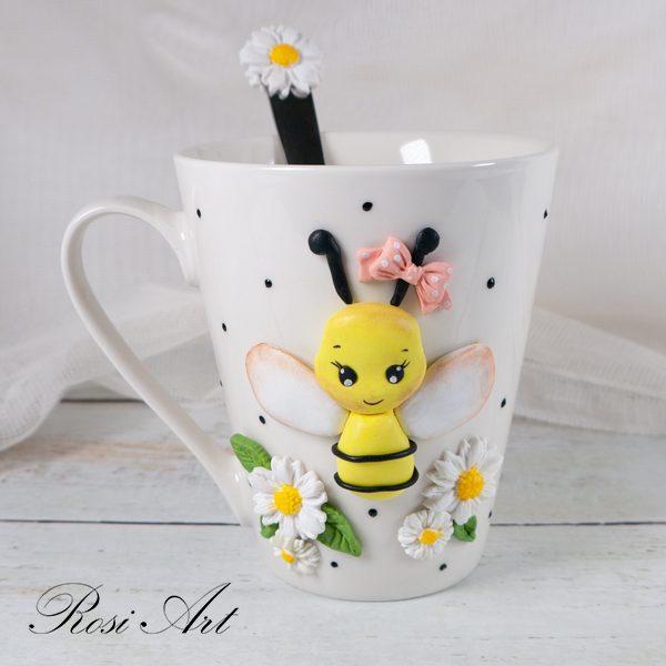 """Комплект чаша и лъжичка """"Пчеличка"""""""