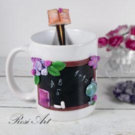 комплект чаша и лъжичка учител