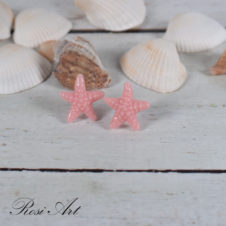 """Обеци """"Морски звезди"""" розови"""