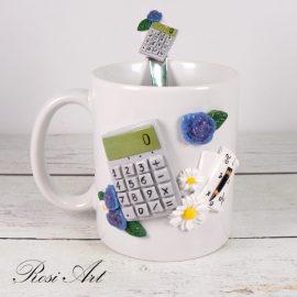 """Комплект чаша и лъжичка """"Счетоводител"""""""