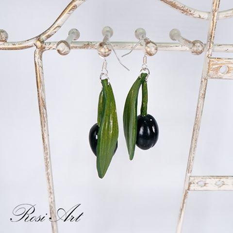 обеци-маслини