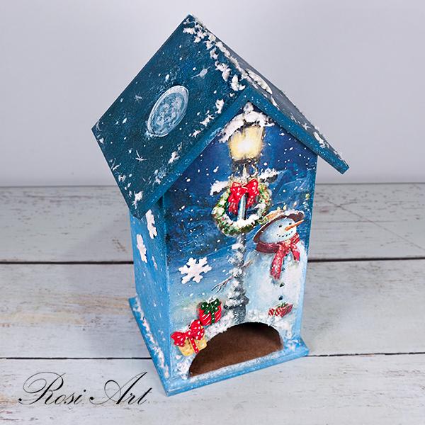 Къщичка за чай снежен човек