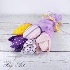 Букет от текстилни лалета