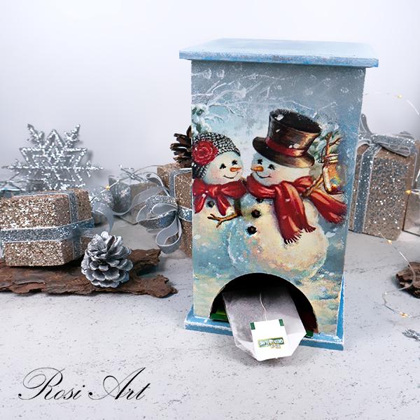 Къщичка за чай Влюбени снежковци