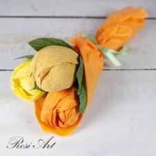 Букет от бонбони оранжеви лалета