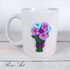Чаша букет цветя