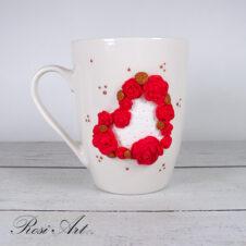 Чаша Сърце от рози