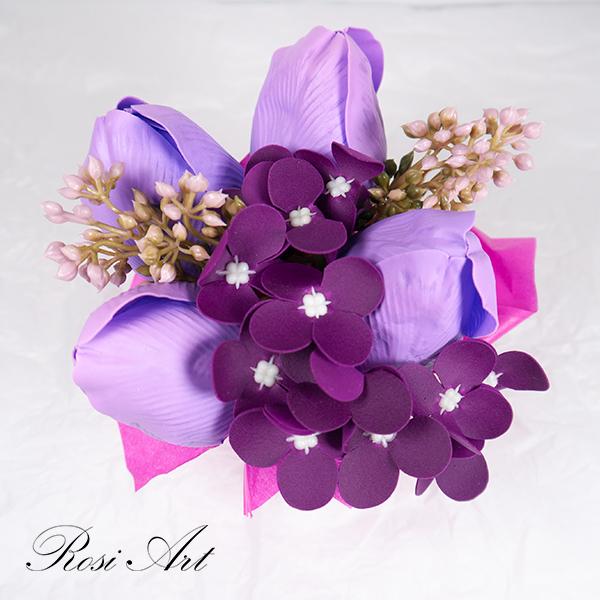 Букет от сапунени цветя 3
