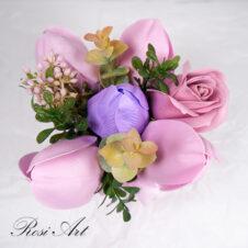Букет от сапунени цветя 2