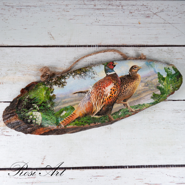 Декоративно пано фазани