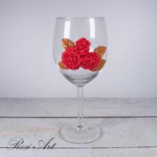 Чаша за вино рози