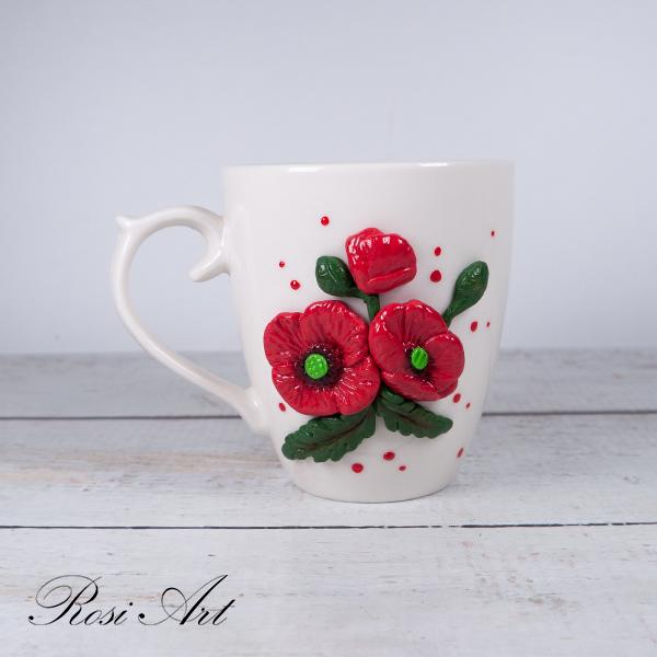 Чаша за кафе макове