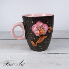 Чаша за кафе орхидея
